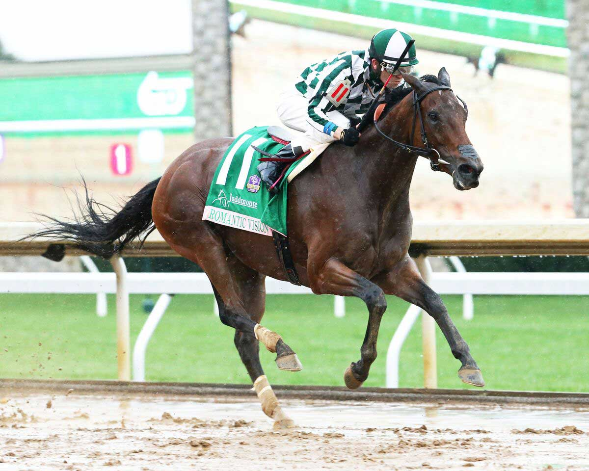 Romantic Vision runs in the G1 Juddmonte Spinster at Keeneland